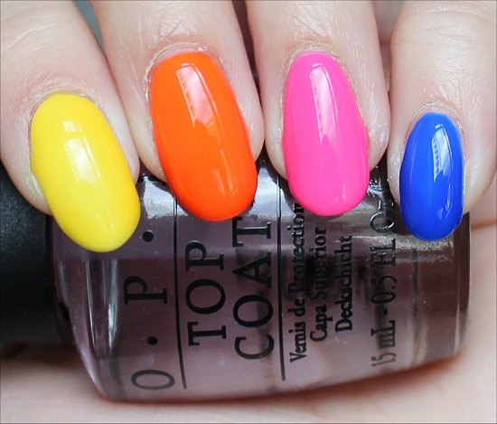 OPI Neon Revolution Swatches, Review & Pictures