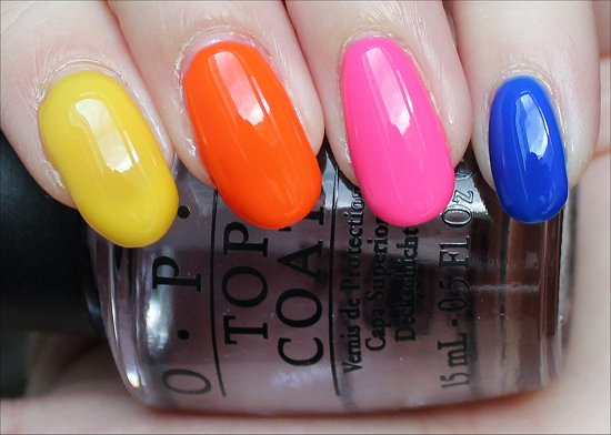 OPI Neon Revolution Swatches Without White Base