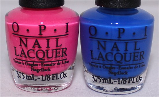 OPI Pink Outside the Box & OPI Blue It Out of Proportion Neon Revolution Mini Set