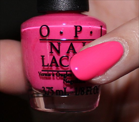 OPI Pink Outside the Box Swatch & Review Neon Revolution