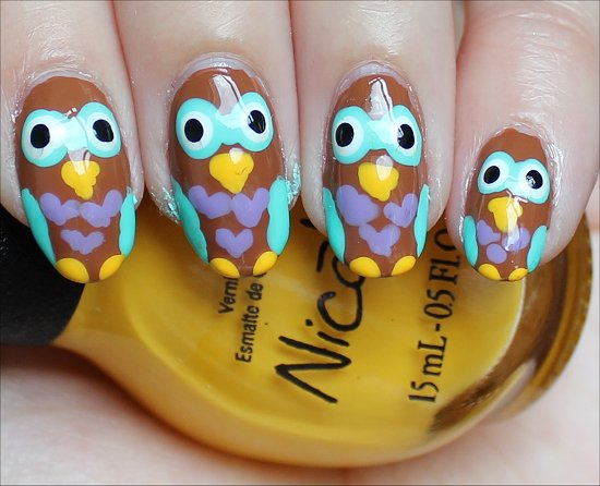Owl Manicure Nail Art Nails
