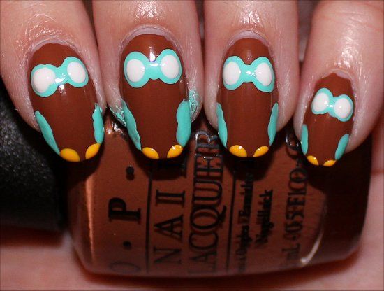 Owl Nail Nail Art Tutorial Step 5