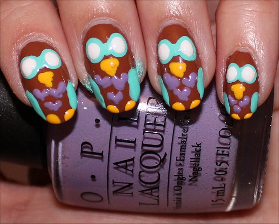 Owl Nail Nail Art Tutorial Step 7