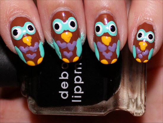 Owl Nail Nail Art Tutorial Step 8