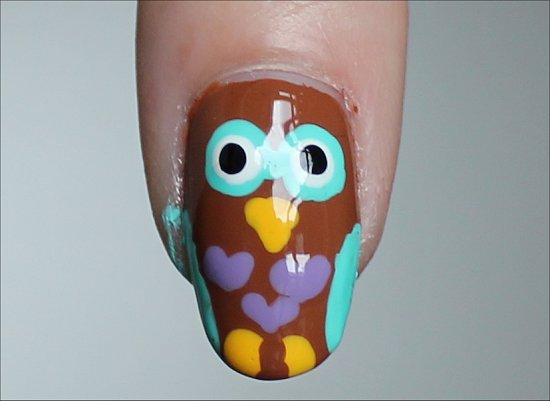 Owl Nails Nail-Art Tutorial Step by Step Instructions