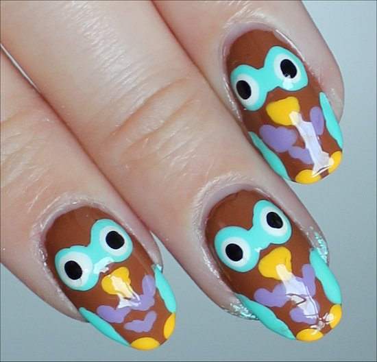 Owl Nails Nail-Art Tutorial