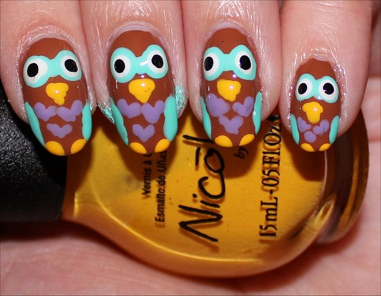 Owl Nails Nail Art