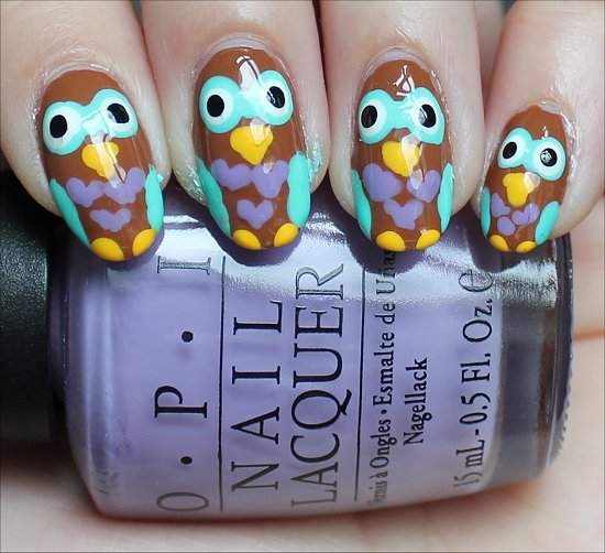 Owls Nails Nail Art Tutorial