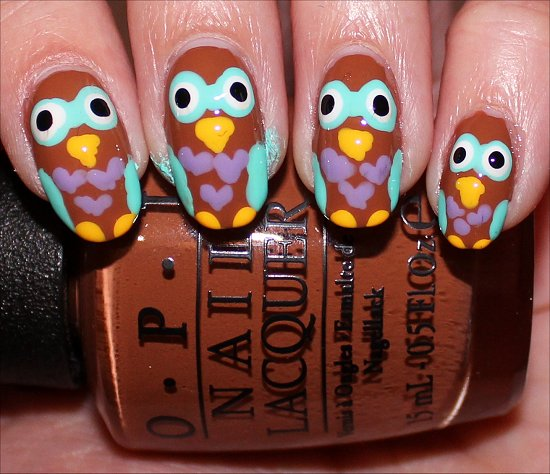 Owls Nails Nail Art