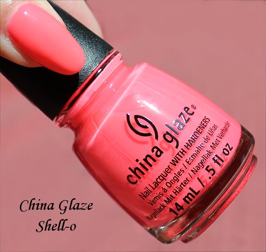 Sunsational China Glaze Shell-o Swatch & Photos