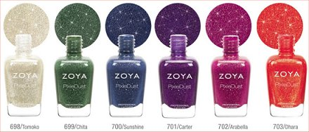 Zoya PixieDust Fall 2013 Collection Press Release & Promo Pictures