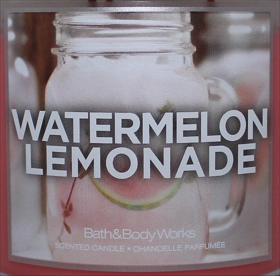 Bath & Body Works Watermelon Lemonade Scented Candle Review & Pictures