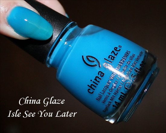 China Glaze Isle See You Later Swatch Sunsational Collection Swatches
