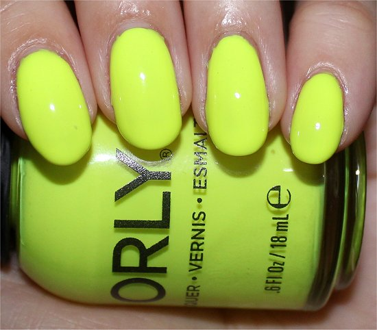 Glowstick Orly Swatches Neon Nailpolish