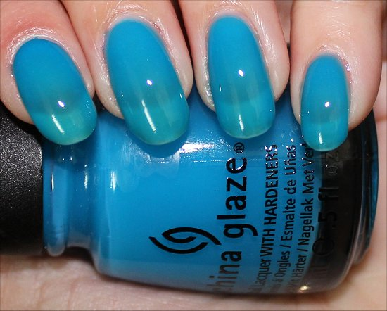 Isle See You Later China Glaze Sunsational Collection Swatches