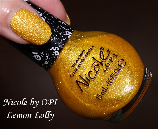 Nicole by OPI Lemon Lolly Swatch Gumdrops Swatches