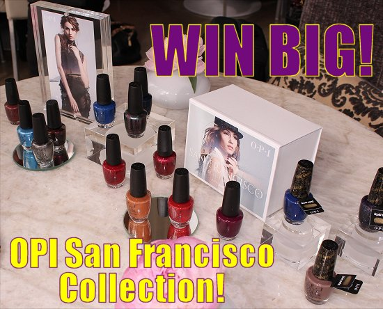 OPI San Francisco Collection Giveaway SwatchAndLearn
