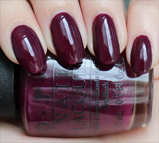 OPI San Francisco Swatches In the Cable Car-Pool Lane Swatch