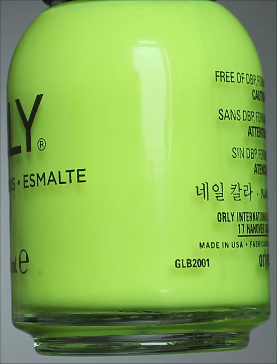 Orly Glowstick Neon Yellow