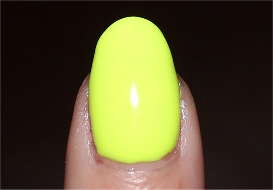 Orly Glowstick Swatch Yellow Nail Polish