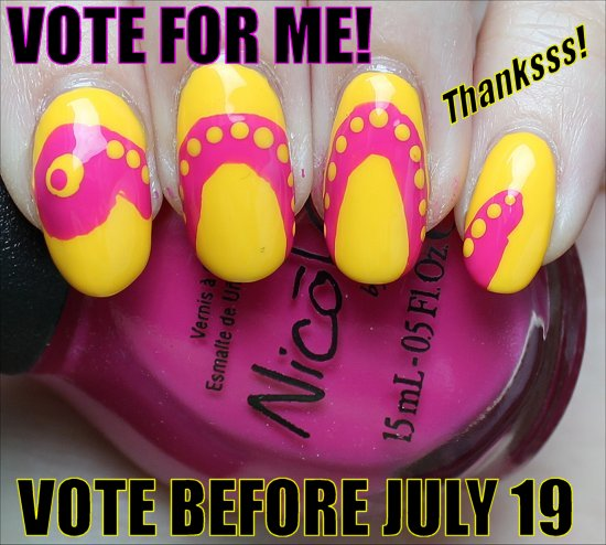 Summer Snake Nails Nail Art VOTE FOR ME