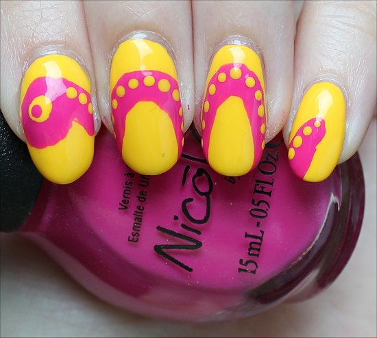 Summer Snake Nails Nail Art