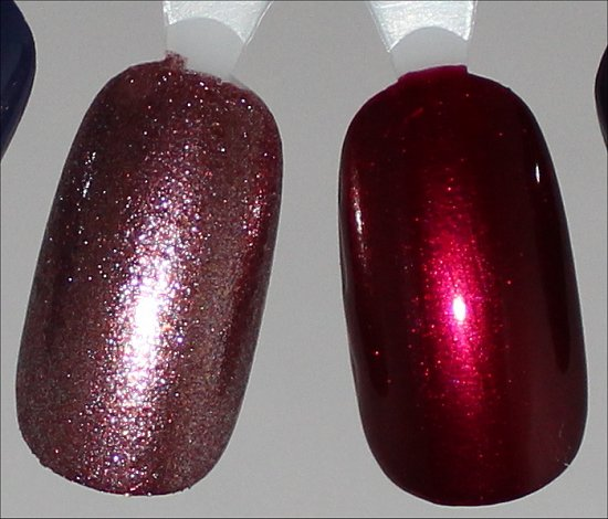 China Glaze Strike Up a Cosmo Swatch & China Glaze Red-y & Willing Swatch