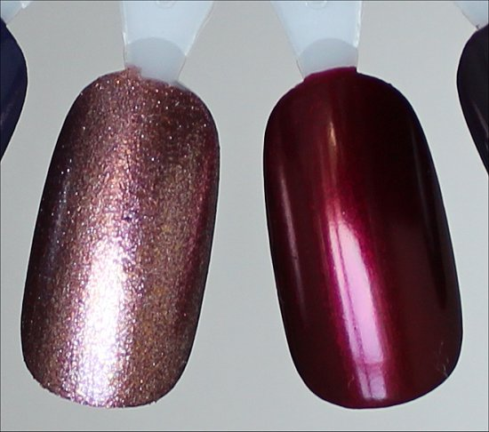 China Glaze Strike Up a Cosmo Swatches & China Glaze Red-y & Willing Swatches