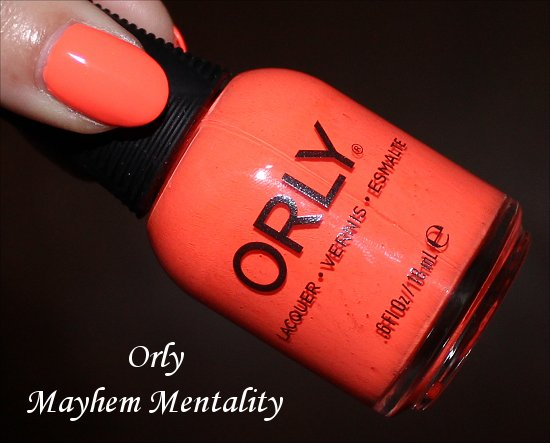 Mayhem Mentality Orly Swatches & Review