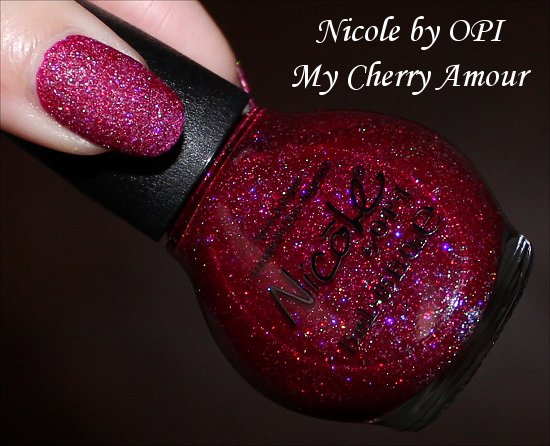 My Cherry Amour Gumdrops Nicole by OPI Swatches