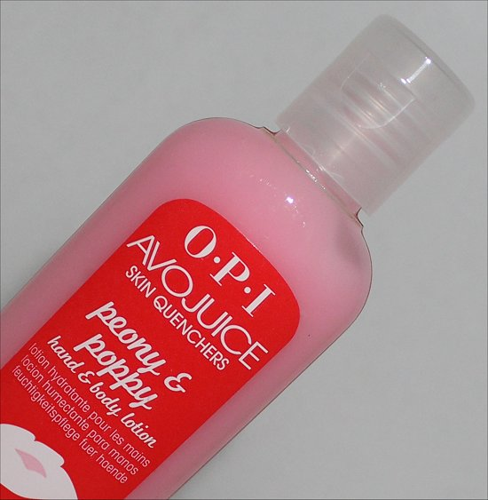 OPI Avojuice Peony & Poppy Hand & Body Lotion Review & Pictures