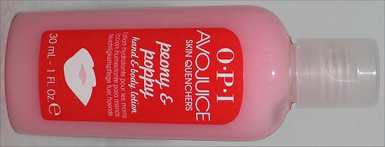 OPI Avojuice Peony & Poppy Lotion Review & Pictures