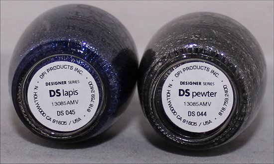 OPI DS Lapis & OPI DS Pewter OPI DS Raw Granite