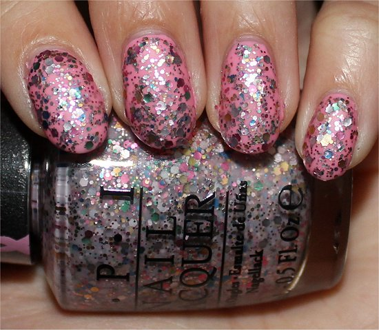 OPI More than a Glimmer Swatch OPI Pink of Hearts Swatches