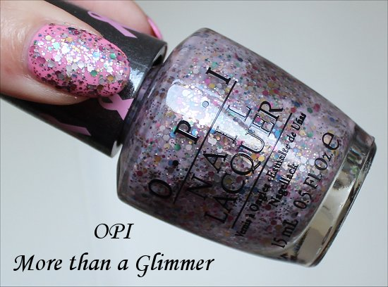 OPI More than a Glimmer Swatch, Review & Photos