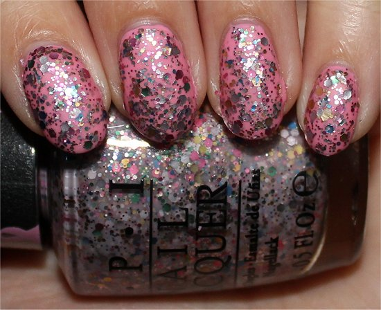 OPI More than a Glimmer Swatches Pink of Hearts Swatches