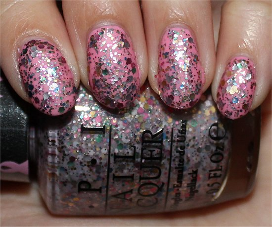 OPI More than a Glimmer Swatches, Review & Pictures Pink of Hearts