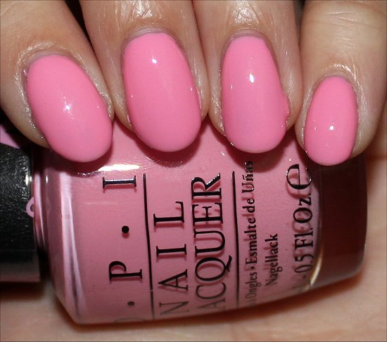 OPI Pink-ing of You Swatch OPI Pink of Hearts 2013