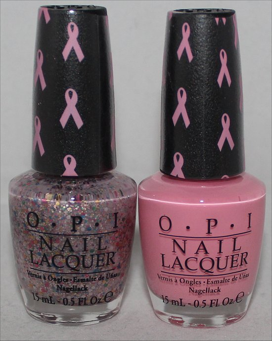OPI Pink of Hearts 2013 Pink-ing of You & More than a Glimmer Swatches