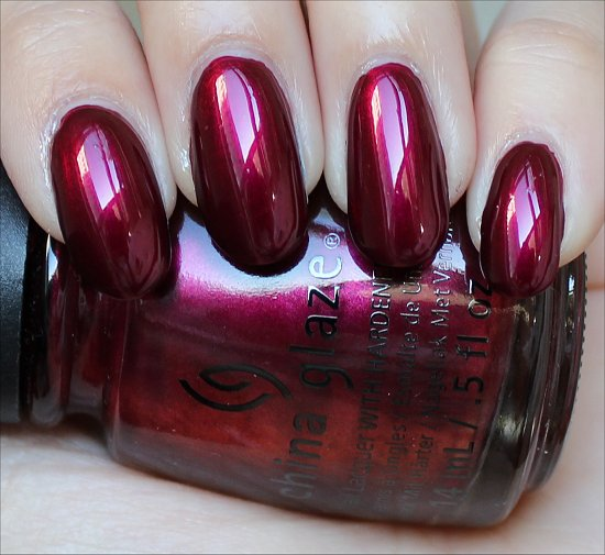 China Glaze Autum Nights Red-y & Willing Swatch