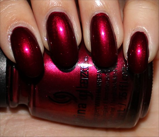 China Glaze Autumn Nights Swatches Red-y & Willing Swatch