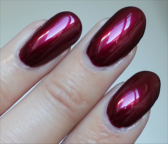 China Glaze Red-y & Willing Swatch Autum Nights