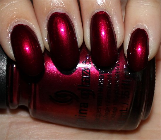 China Glaze Red-y & Willing Swatch Autumn Nights Swatches