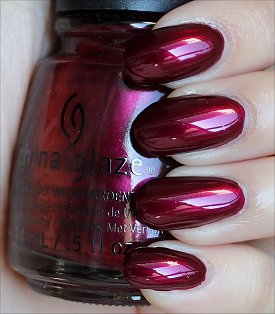 China Glaze Red-y & Willing Swatches & Review