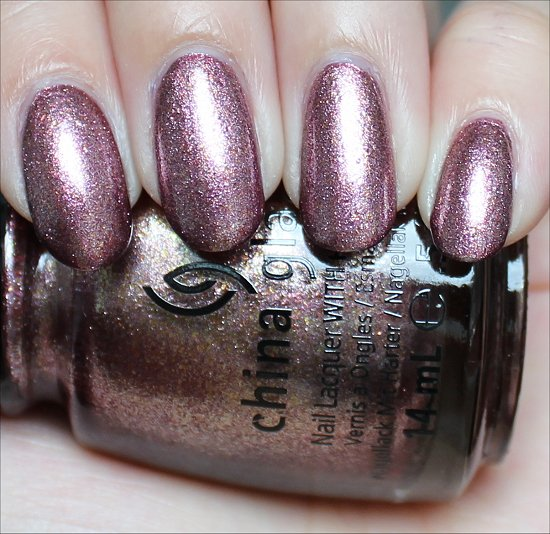 China Glaze Strike Up a Cosmo Swatch Autumnal Nights Swatches