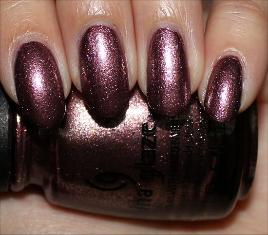 China Glaze Strike Up a Cosmo Swatches & Pictures