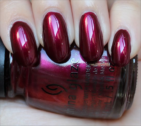China Glaze Red-y & Willing Swatches & Photos