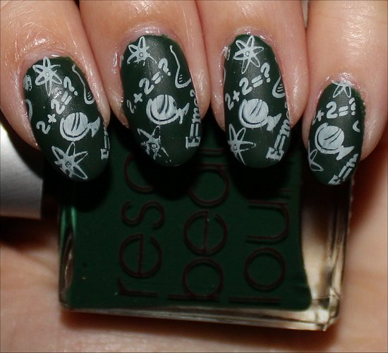 Nail Art Chalkboard Nails Manicure