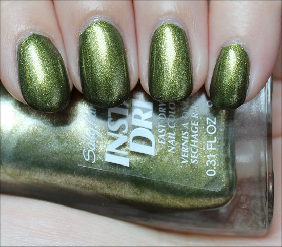 Sally Hansen Insta-Dri No S-pear Time Swatches