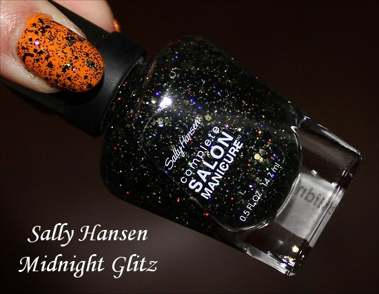 Sally Hansen Midnight Glitz Swatch & Pictures